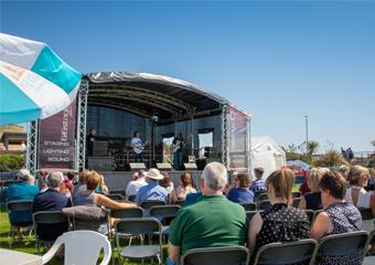 Live Music stage at Magnificent Motors event in Eastbourne
