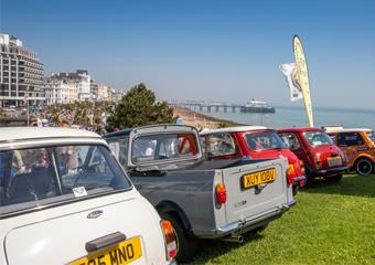 Cars on display at Magnificent Motors event in Eastbourne