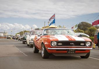 Parade of Motors at Magnificent Motors event in Eastbourne