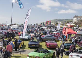 Vehicles on the Western Lawns at Magnificent Motors event in Eastbourne