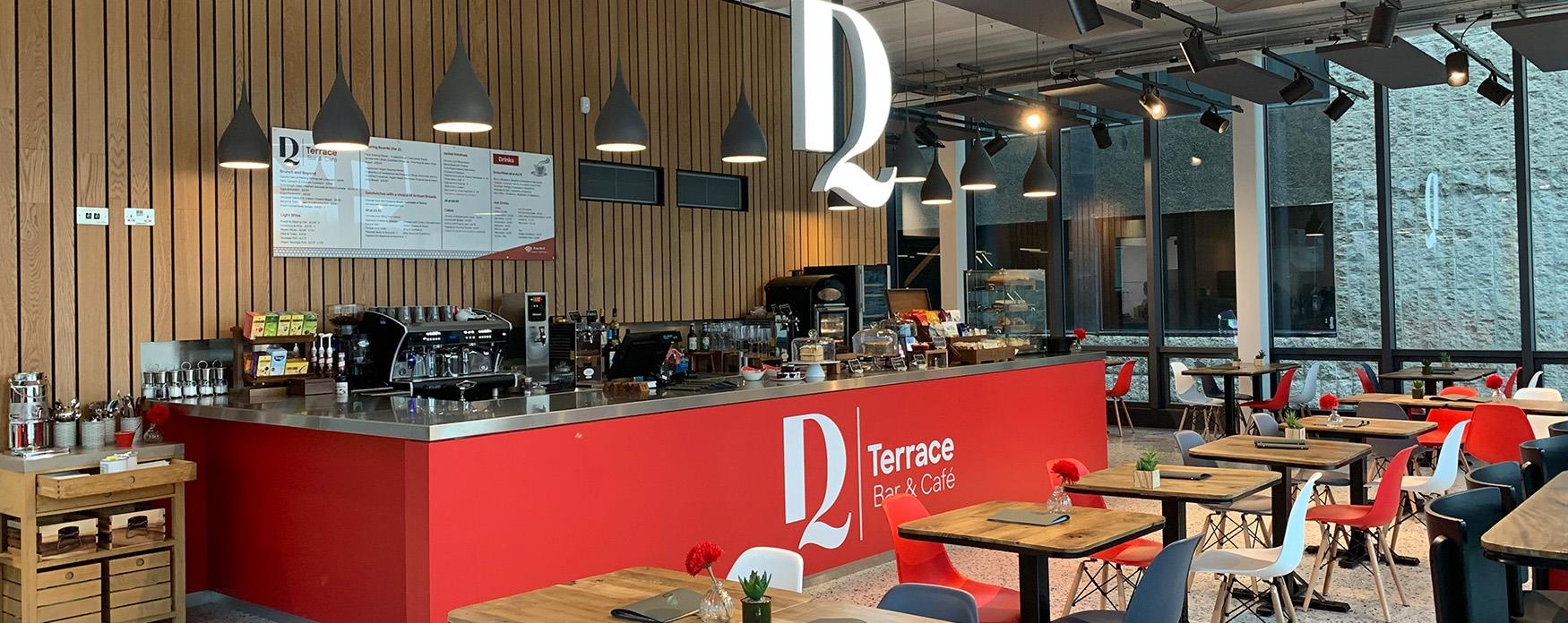 The new DQ Terrace Bar & Cafe has spectacular views of Devonshire Park.