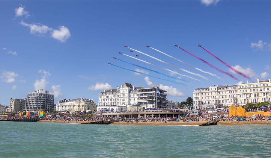 Red Arrows flyover